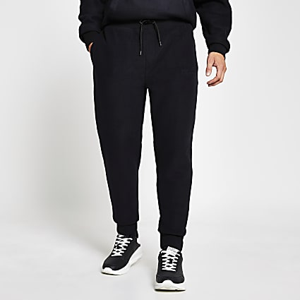 Prolific black regular fit fleece joggers