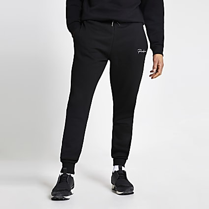 Prolific black regular fit joggers
