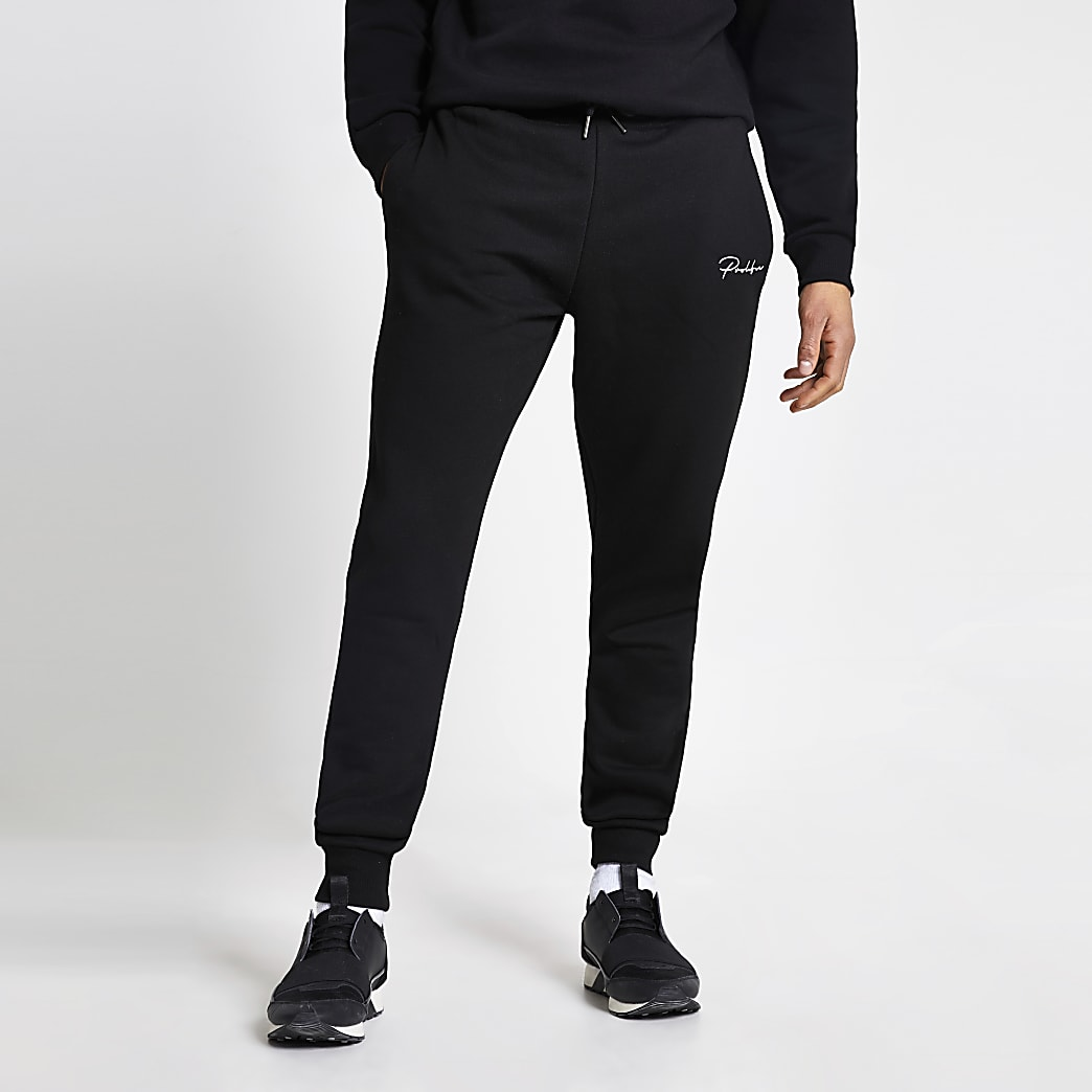 Prolific black regular fit joggers