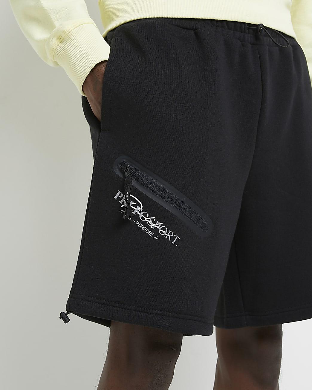 Prolific black regular fit shorts