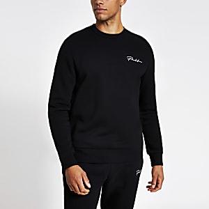 Prolific – Schwarzes Regular Fit Sweatshirt
