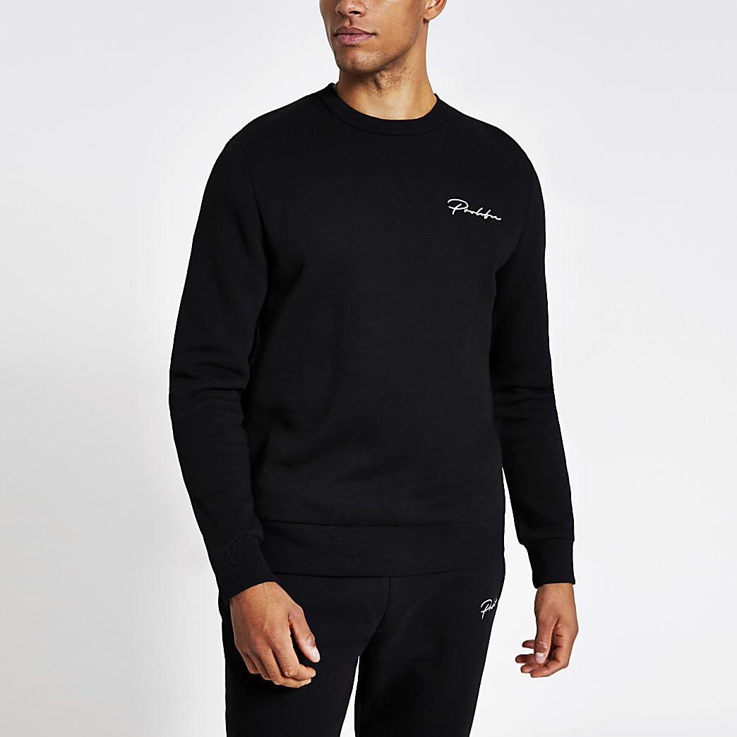 Prolific - Zwarte regular-fit sweater