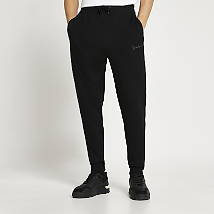 Prolific black slim biker joggers