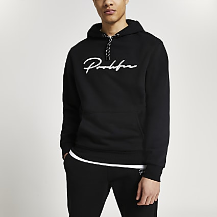 Prolific black slim fit hoodie