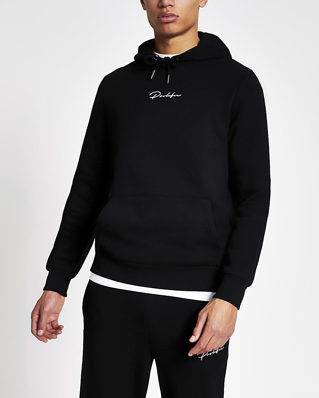 Prolific black slim fit hoodie