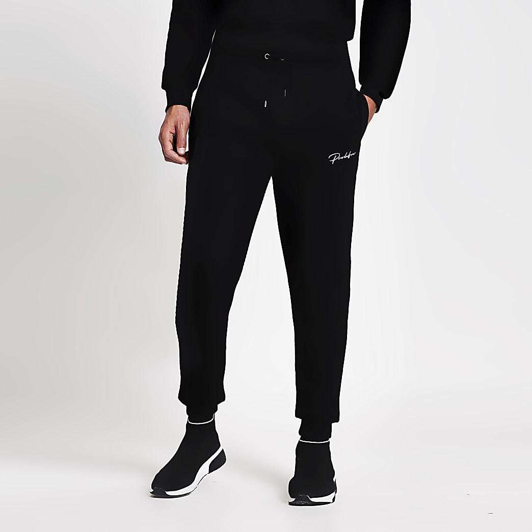 Prolific black slim fit joggers