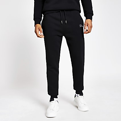 Prolific black slim fit joggers