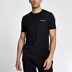 Prolific - Zwart slim-fit T-shirt met korte mouwen
