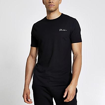 Prolific black slim fit short sleeve T-shirt