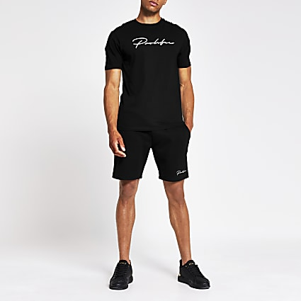 Prolific black slim fit shorts