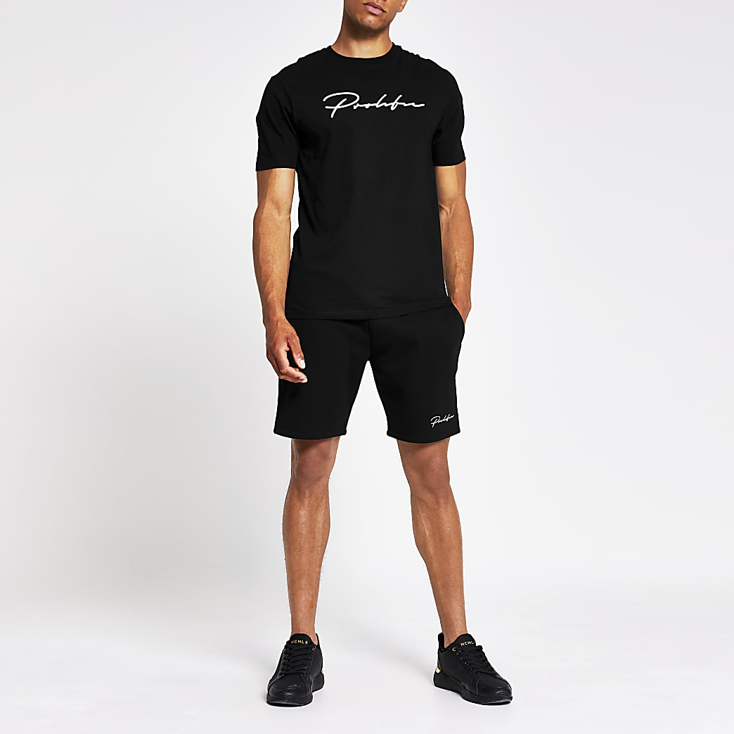Prolific black slim fit shorts