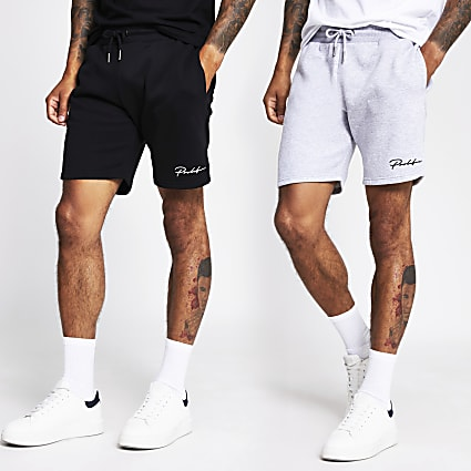 Prolific black slim jersey short 2 pack