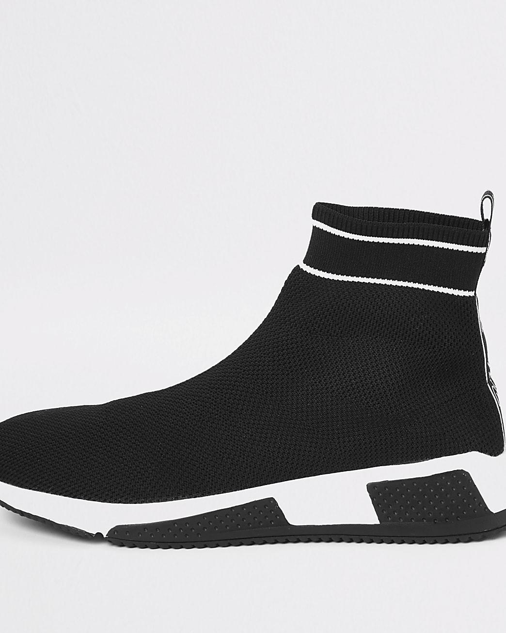 Prolific black sock runner trainers