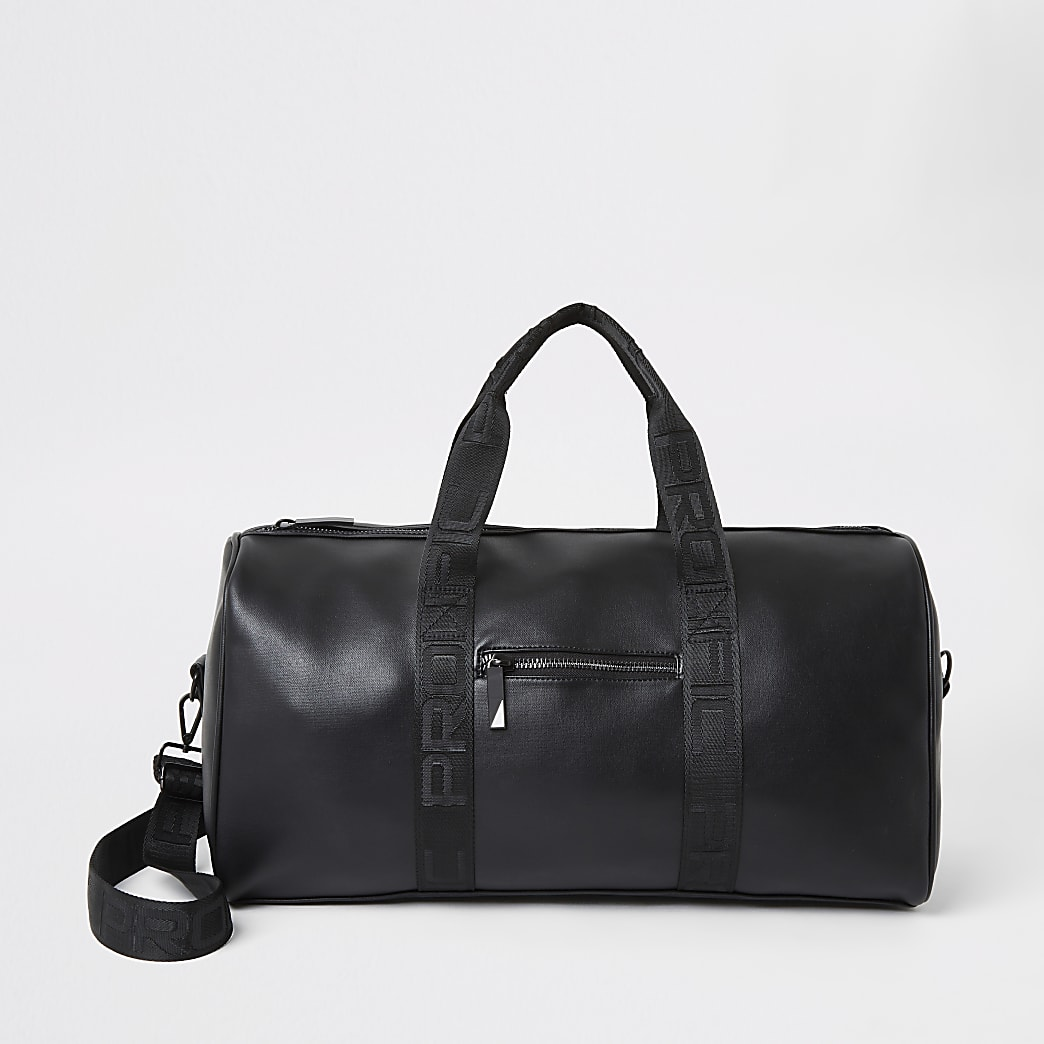 Prolific black strap holdall bag