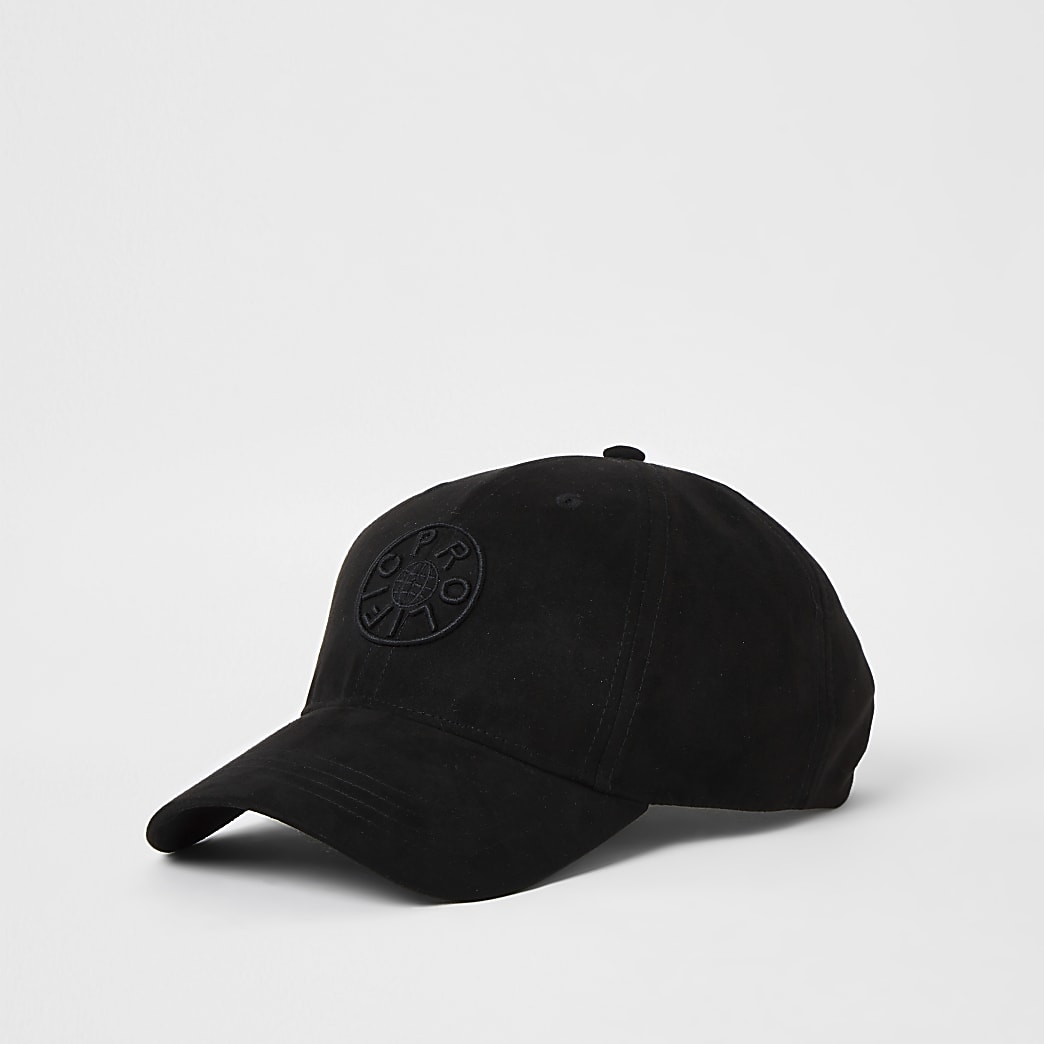 Prolific black suedette cap