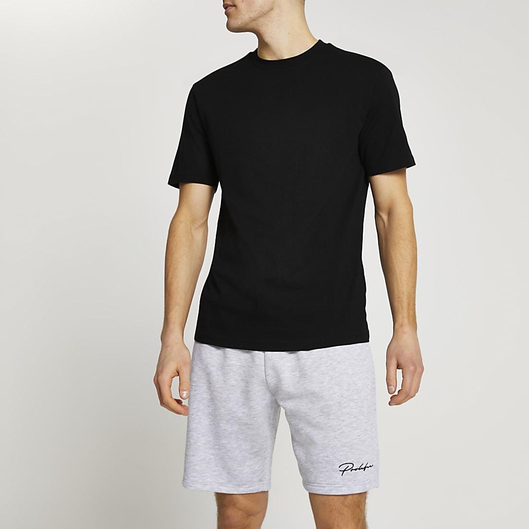 Prolific black t-shirt and short set