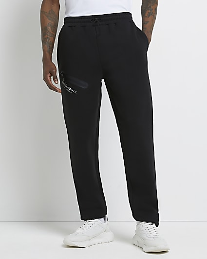 Prolific black tapered fit active joggers