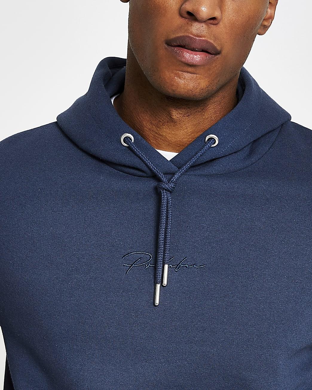 Prolific blue slim fit hoodie