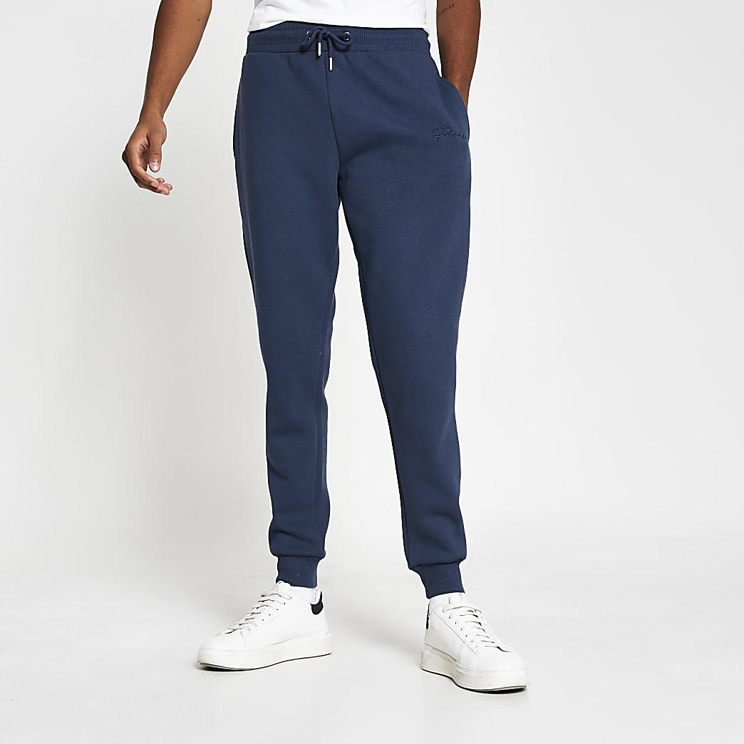 Prolific blue slim fit joggers