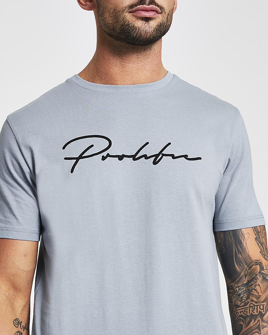 Prolific blue slim fit t-shirt