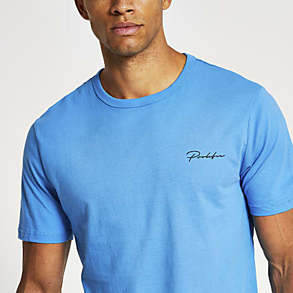 Prolific blue slim fit T-shirt