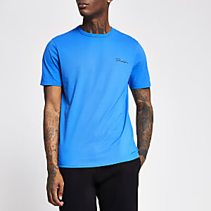 Prolific bright blue slim fit T-shirt