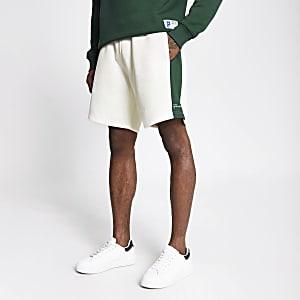 Prolific - Donkergroene short met kleurvlakken