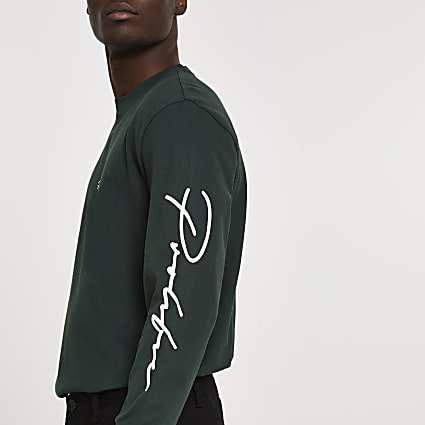 Prolific dark green long sleeve t-shirt
