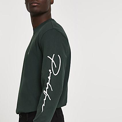 Prolific dark green long sleeve t-shirt