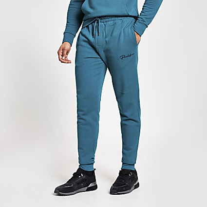 Prolific dark green slim fit joggers