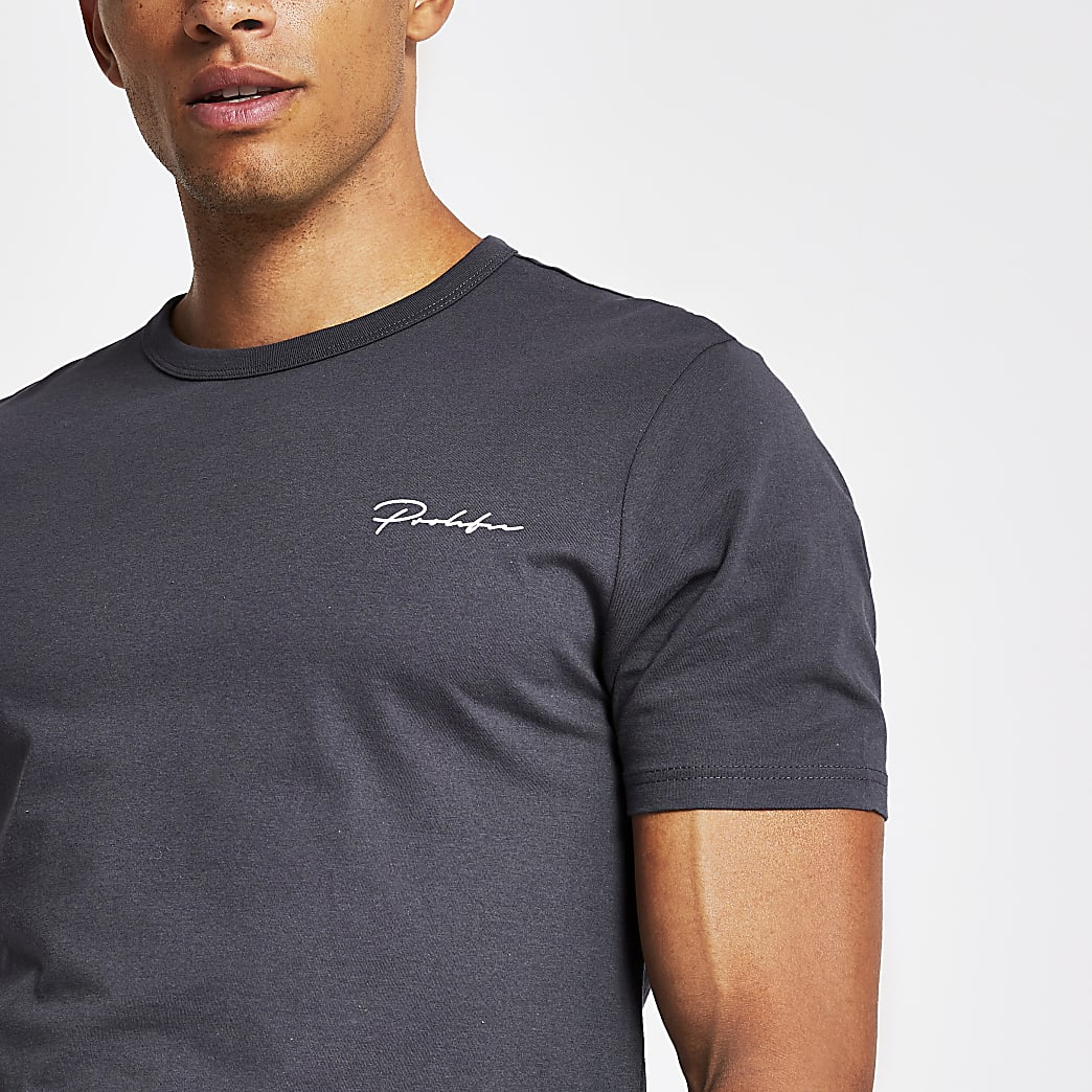 Prolific dark grey slim fit T-shirt