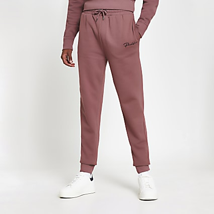 Prolific dark pink slim fit joggers