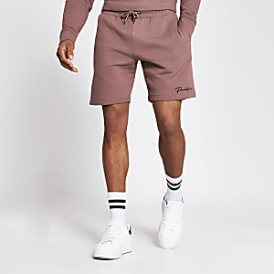 Prolific - Donkerroze slim-fit short