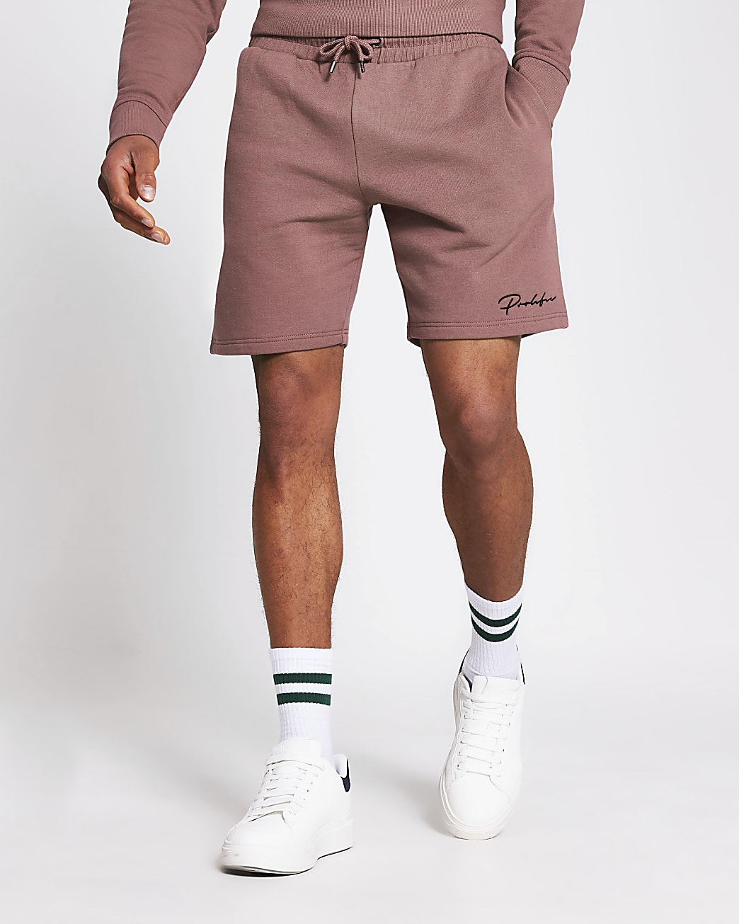 Prolific dark pink slim fit shorts