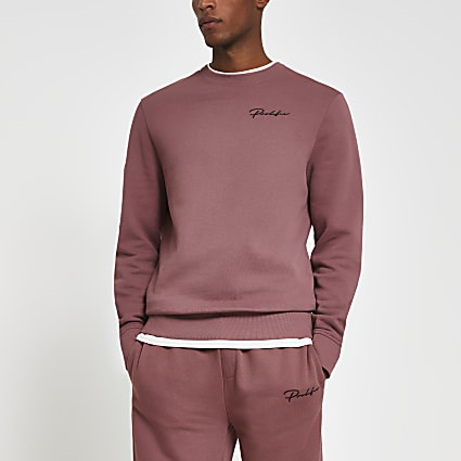 Prolific dark pink slim fit sweatshirt