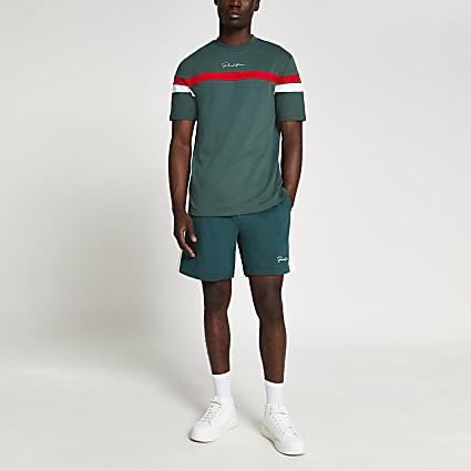 Prolific green block shorts