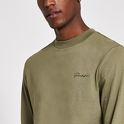 Prolific green long sleeve slim fit t-shirt