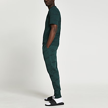 Prolific green monogram joggers