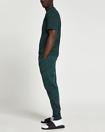 Prolific green monogram joggers