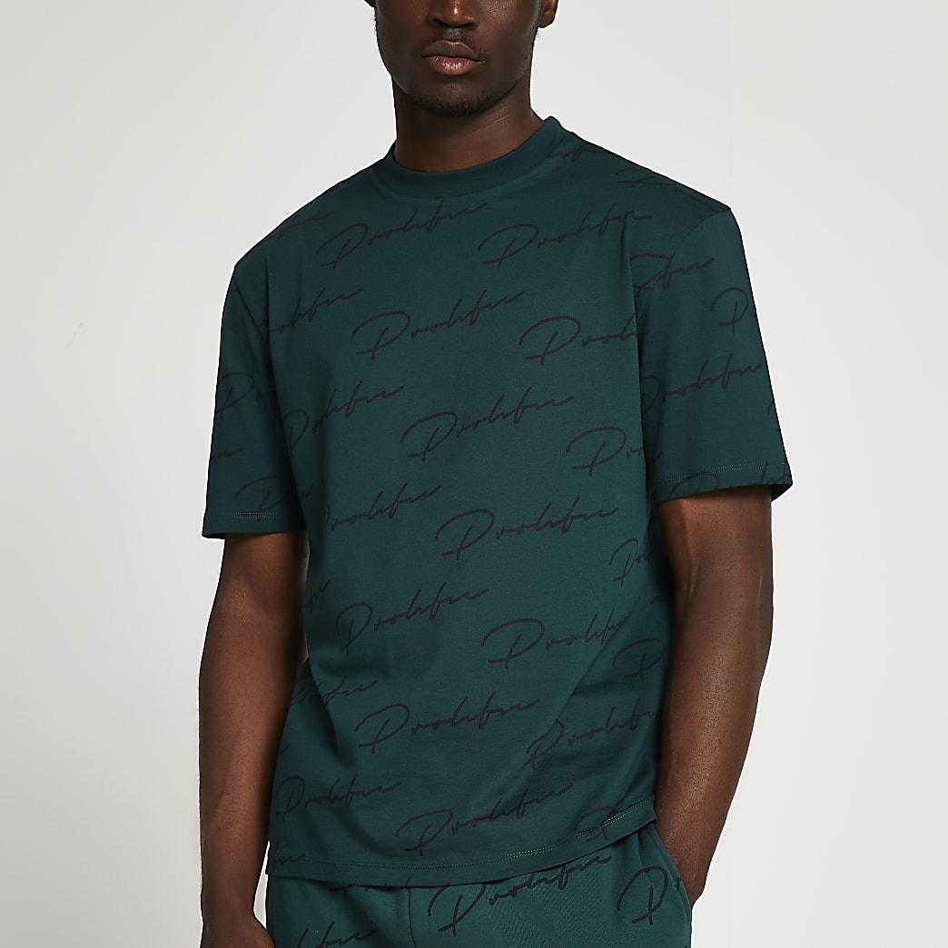 Prolific green monogram t-shirt