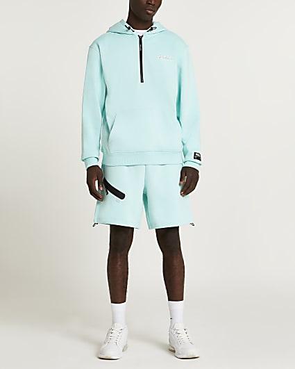 Prolific green regular fit active shorts