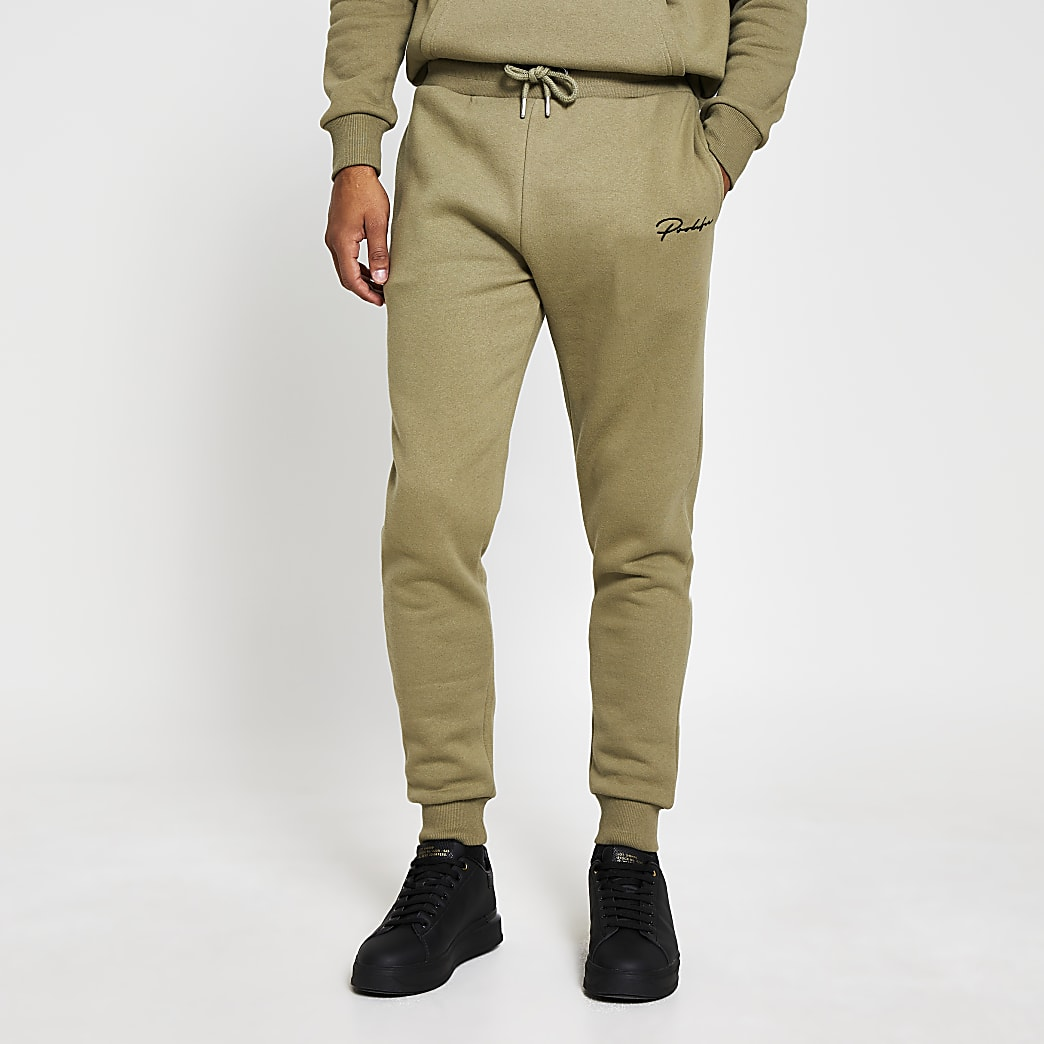 Prolific green slim fit joggers