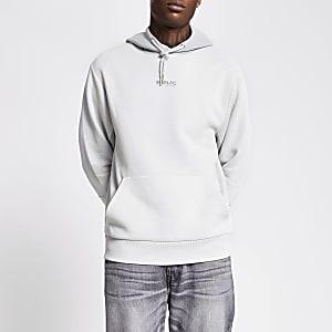 Prolific - Grijze hoodie met kleurvlak