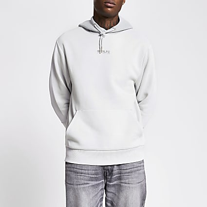 Prolific grey colour block hoodie