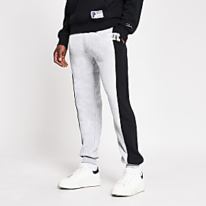 Prolific grey colour blocked joggers