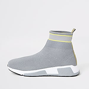 Prolific – Graue Sock-Sneaker mit High-Top-Sohle
