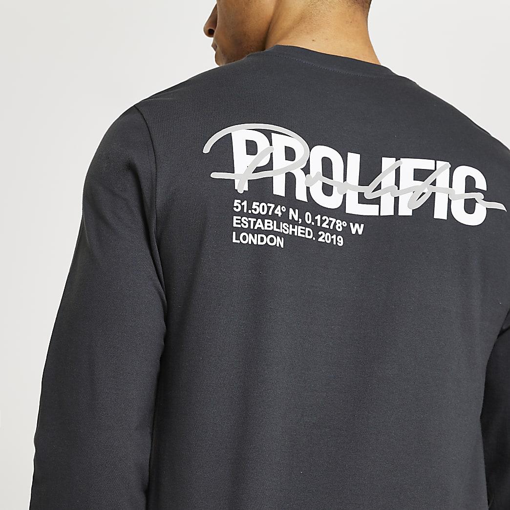 Prolific grey long sleeve t-shirt
