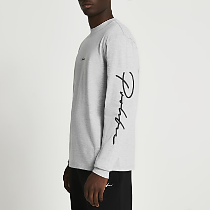 Prolific grey marl long sleeve t-shirt