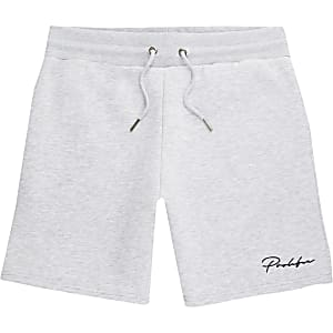 Prolific – Grau melierte Slim Fit Shorts