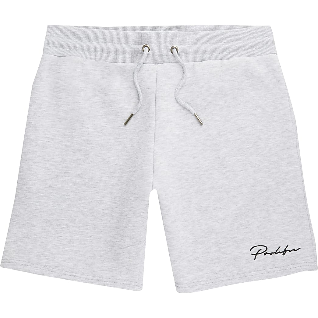 Prolific grey marl slim fit shorts